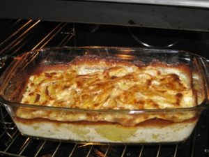 receta de papas al horno con crema